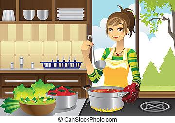 gotowanie, gospodyni