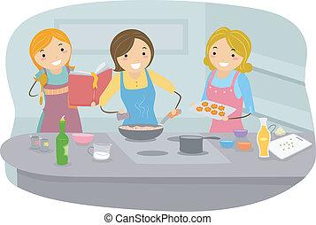 gotowanie, kobiety