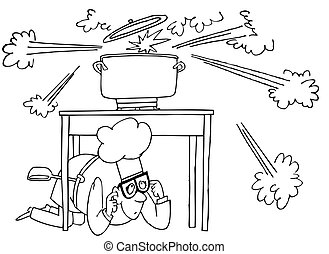 gotowanie, wybuch