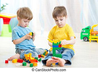 gra, dzieciska pokój, daycare, dzieci