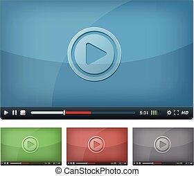 gracz, sieć, video, pastylka pc