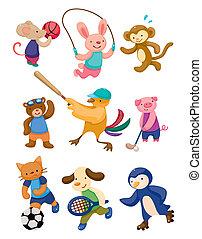 gracz, sport, rysunek, zwierzę