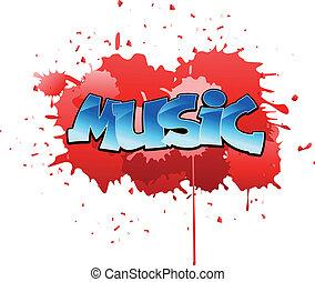 graffiti, muzyka, tło
