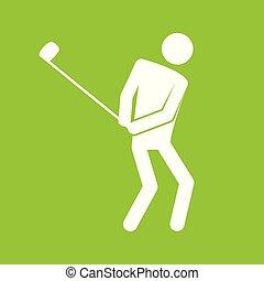 graficzny, golf, figura, symbol, ilustracja, wektor, sport