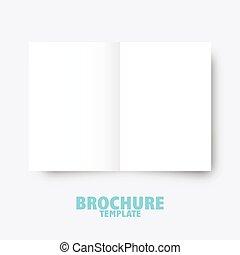 graficzny, handlowy, wydawniczy, presentation., projektować, szablon, broszura, trifold, elementy