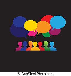 &, graficzny, sieć, ikony, media, ludzie, -, wektor, online, towarzyski