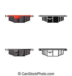 graficzny, symbol., toolbag, odizolowany, instrument pasek, stock., wektor, ikona, obiekt