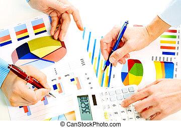 graphs., handlowy, pracujące ludzie