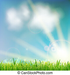 grass., zielone tło