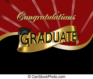 gratulacje, graficzny, absolwent