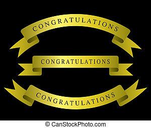 gratulacje, złota wstążka
