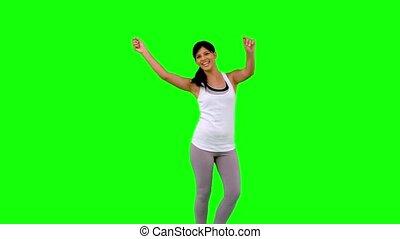 gree, ubranie sportowe, taniec, kobieta