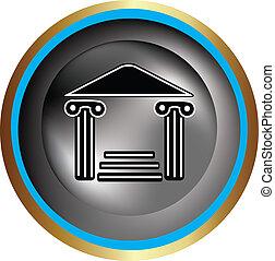 grek, ikona, kolumna