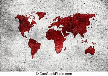grunge, światowa mapa