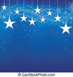 grunge, błękitne tło, śnieg, elements., boże narodzenie, świąteczny, ciemny, gwiazdy, łuski