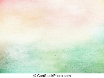 grunge, barwny, watercolor., struktura, tło., miękki