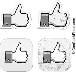 grunge, facebook, to, podobny, guzik