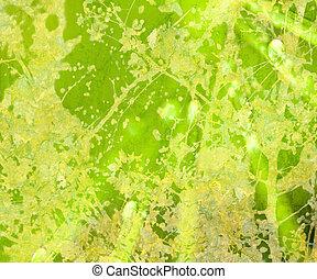 grunge, jasny, abstrakcyjny, textured, kwiatowy, zielony