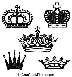 grunge, korony