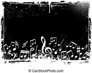 grunge, notatki, muzyka