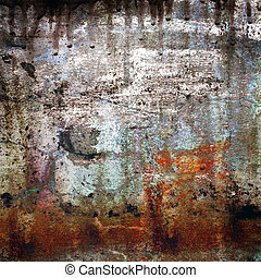grunge, tło, rusty-colored