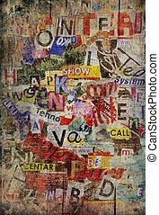 grunge, tło, textured