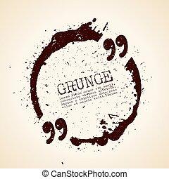 grunge, zacytować, bańka, tekst
