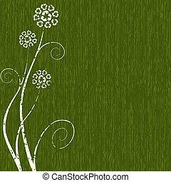 grungy, pojęcie, kwiat, recycling