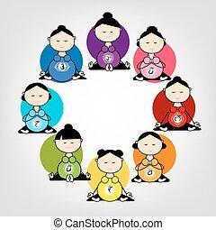grupa, brzemienny, yoga, projektować, twój, kobiety