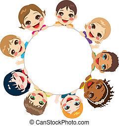 grupa, multi-ethnic, dzieci