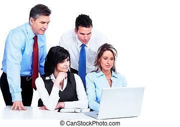 grupa, working., handlowy zaludniają