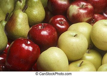 gruszki, rozmaitość, bartlet, jabłka