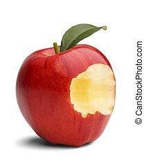 gryźć, jabłko