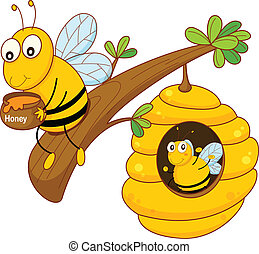 grzebień miodu, pszczoła