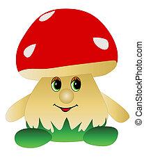grzyb, zabawka, kształt