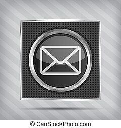 guzik, email, ikona