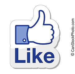 guzik, facebook, to, podobny