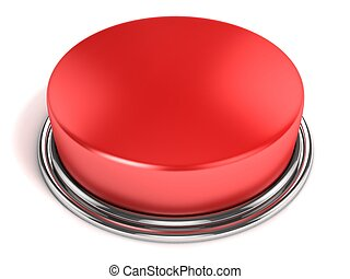 guzik, odizolowany, czerwony