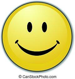 guzik, smiley twarz