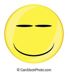 guzik, smirk, uśmiech, twarz, odizolowany