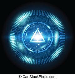 guzik, trójkąt, moc, cyfrowy