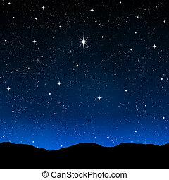 gwiaździste niebo, noc
