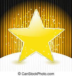 gwiazda, 10, abstrakcyjny, eps, pasy, wektor, tło, grunge, boże narodzenie