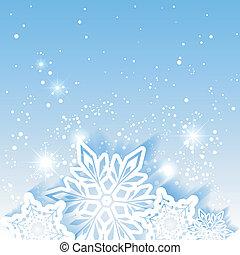 gwiazda, boże narodzenie, tło, płatek śniegu