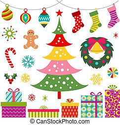 gwiazdkowy dar, drzewo, ozdoba