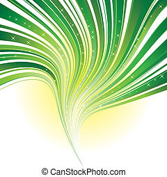 gwiazdy, abstrakcyjny, zielony pas, tło, wir