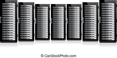 hałas, sieć, servery