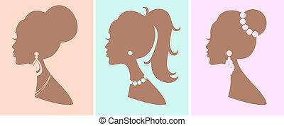 hairstyles, elegancki, samica