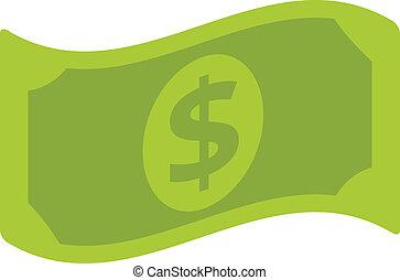halabarda, dolar, ikona, wektor, płaski