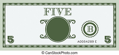 halabarda, pieniądze, image., piątka